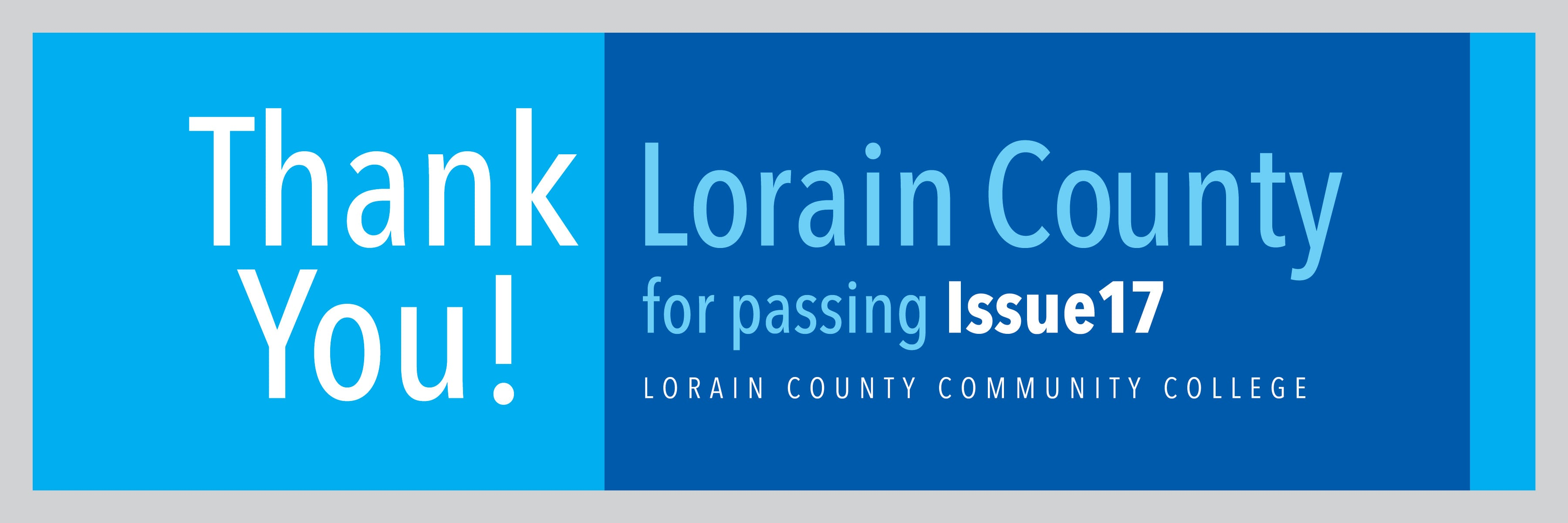 Thank you Lorain County Voters