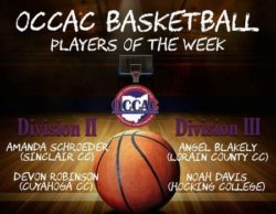 OCCAC Player of Week Dec. 11-17, 2017