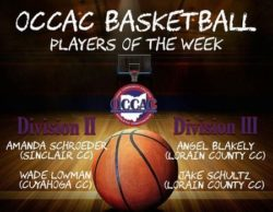 OCCAC Players of the Week for December 4-10, 2017