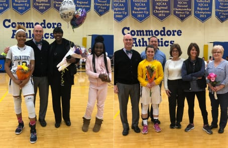 Tyeisha Sain and Hannah Oehlstrom Celebrate Sophomore Day with family