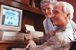 Senior with Computer
