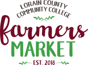 The Logo for the Lorain County Community College Farmer's Market established 2018