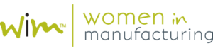 The logo for Women in Manufacturing