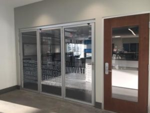 A picture of the new Fab Lab Entrance at AT 160
