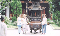 A group of LCCC students in China