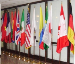International Flags on display at LCCC