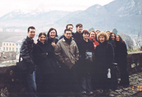 A group of LCCC students in France