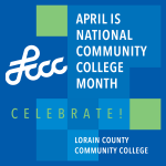 April is National Community College Month Logo LCCC