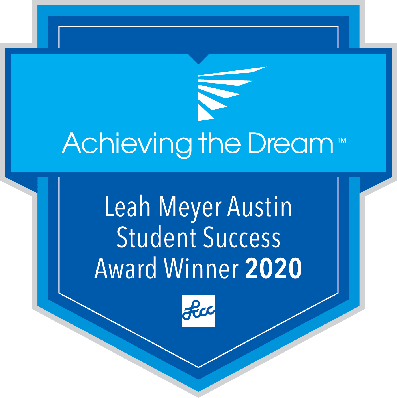 Achieving the Dream Leah Meyer Austin Student Success Award Winner 2020