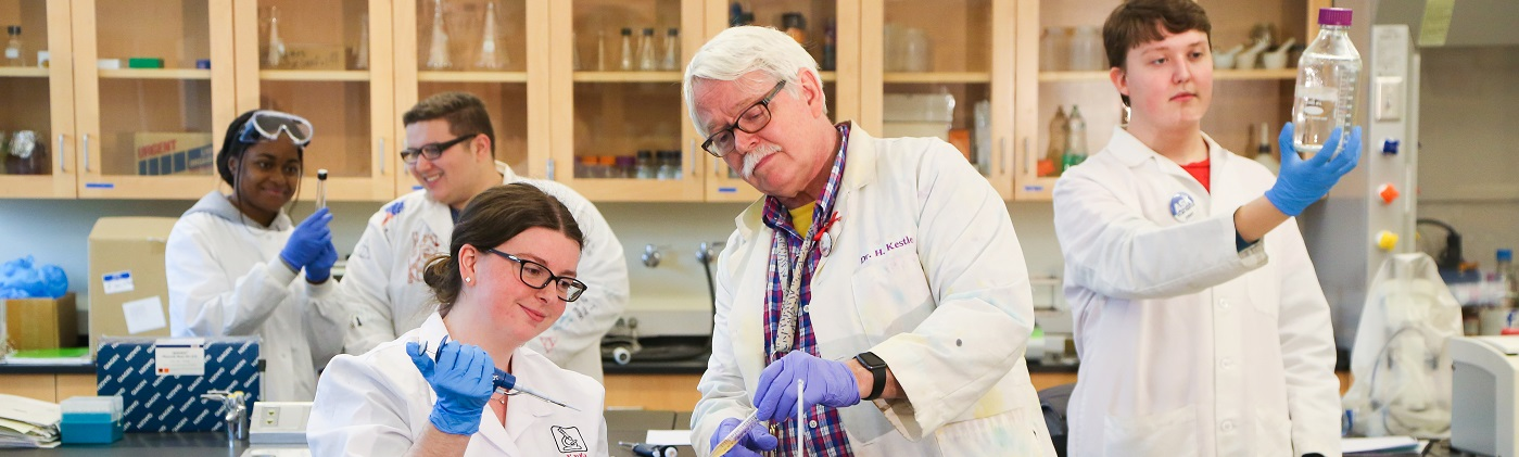 Professor Harry Kestler and student