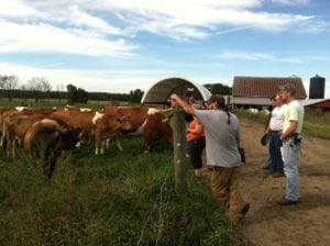 Sustainable Agriculture Students at Grim Dairy
