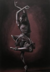 A painting of a dancer