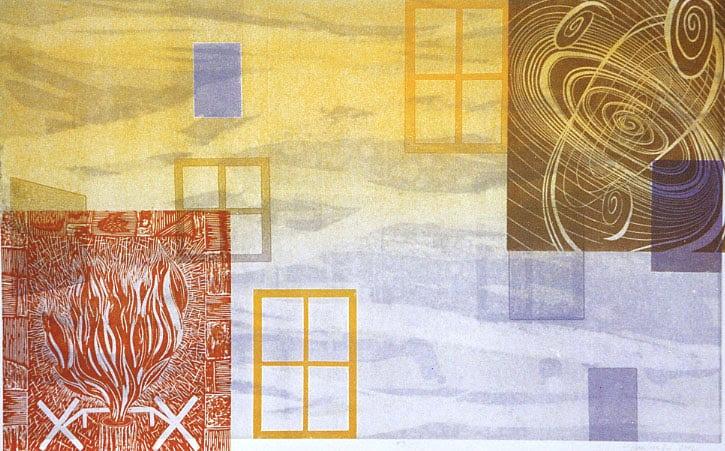 """The Sky Between Two Houses"" a print by David Jansheski"