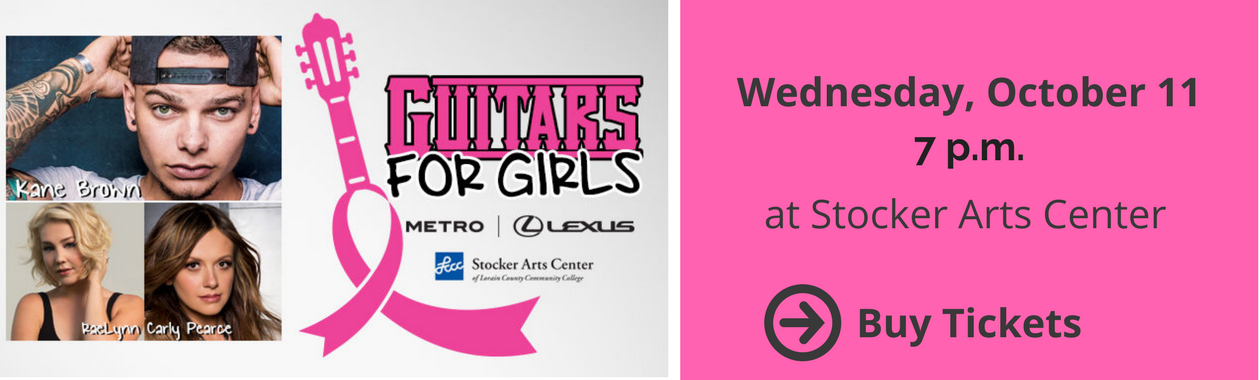 Guitars for Girls 2017, Wednesday, October 11 at 7 p.m. at Stocker Arts Center