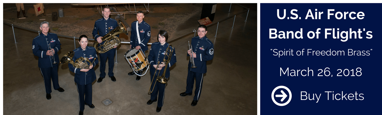 """U.S. Air Force Band of Flights """"Spirit of Freedom Brass, March 26, 2018, Select for more information and to buy tickets."""