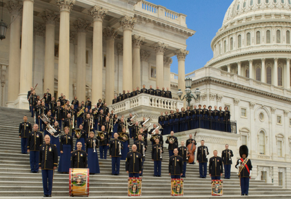A picture of the US Army Chorous Band
