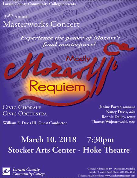 The Event Flyer for the 39th Annual Masterworks Concert