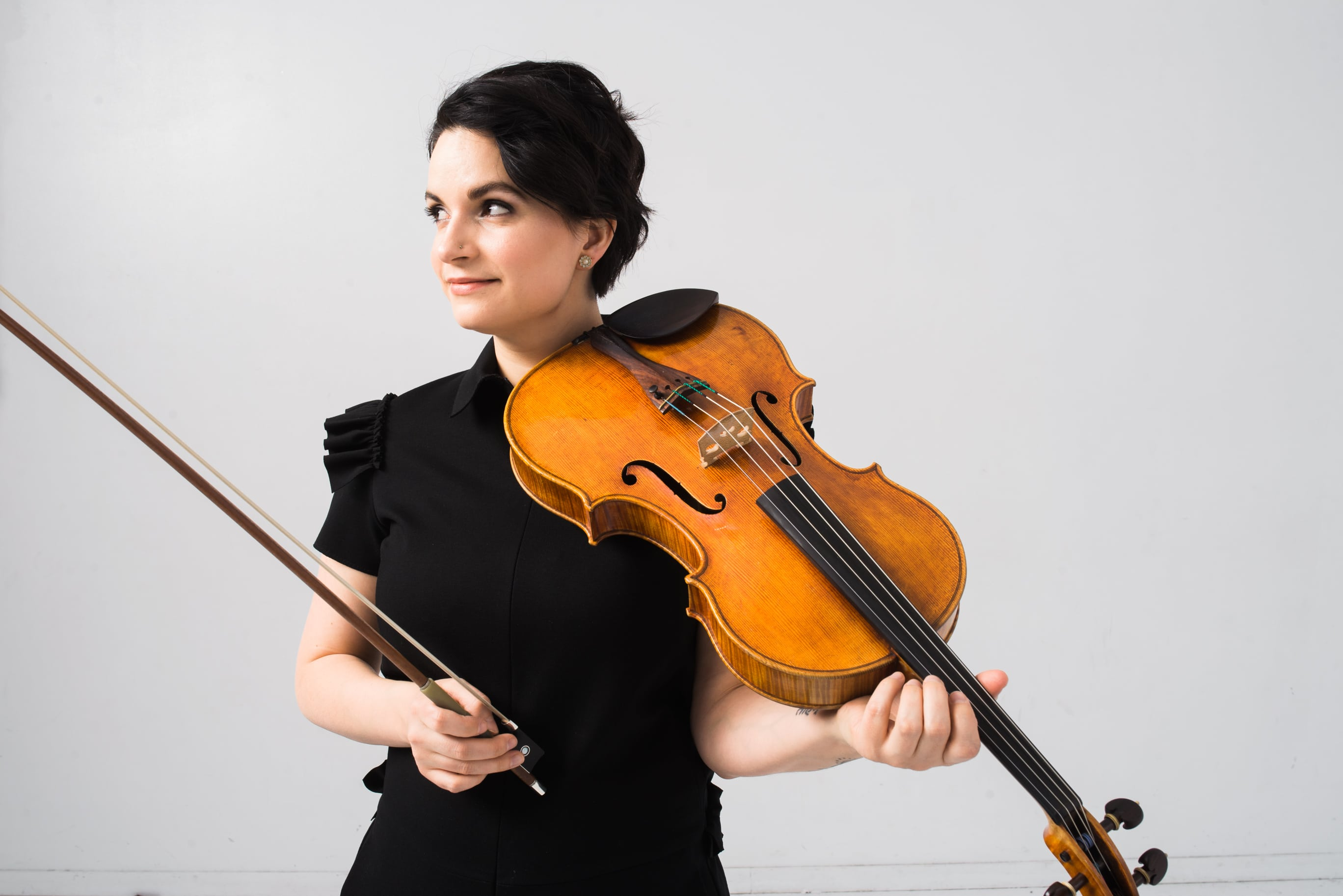 Marina Thibeault with her viola