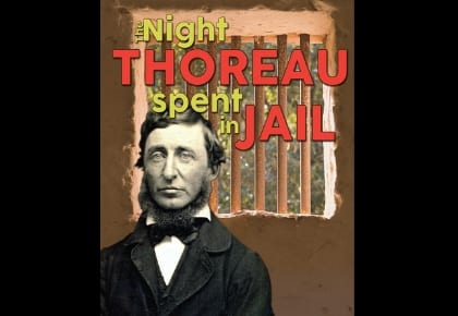 "Poster for LCCC Theatre's ""The Night Thoreau Spent in Jail"""