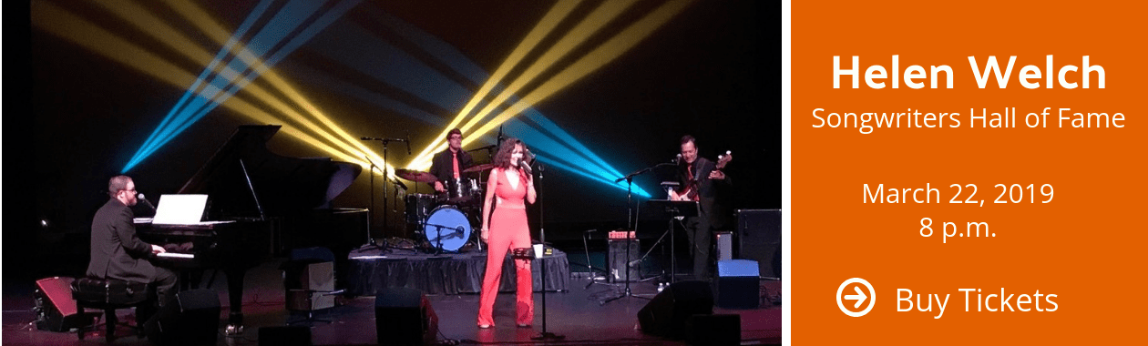 Helen Welch Songwriters Hall of Fame Performance at Stocker Arts center March 22, 2019