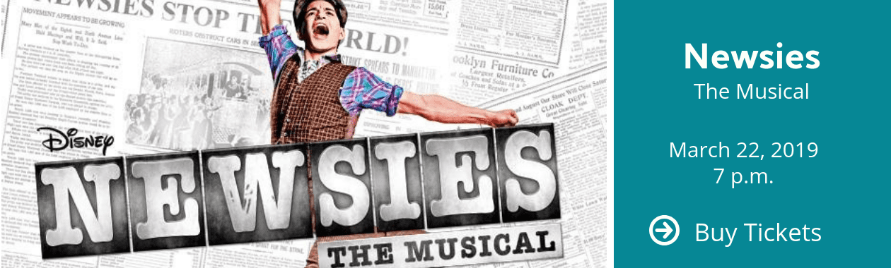 Newsies Performance March 22, 2019 at Stocker Arts Center