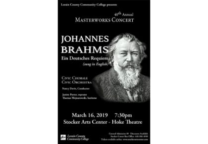 2019 Civic Chorale Masterworks Concert March 16, 2019 at 7:30 pm