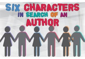 Sic Characters in Search of an Author image - line of stick figures holding hands