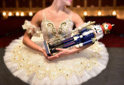 Ballerina holding nutcracker