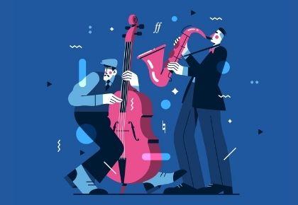 Cartoon Jazz Musicians