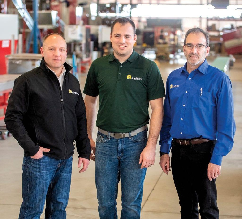 AgriNomix President Charlie Kirschner, Kane Hogan, and Robert Lando, CEO of AgriNomix