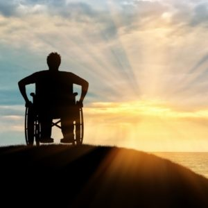 Silhouette of disabled person