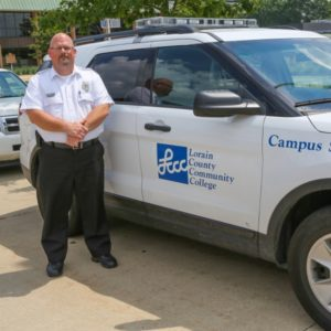 Campus Security Officer and Vehicle