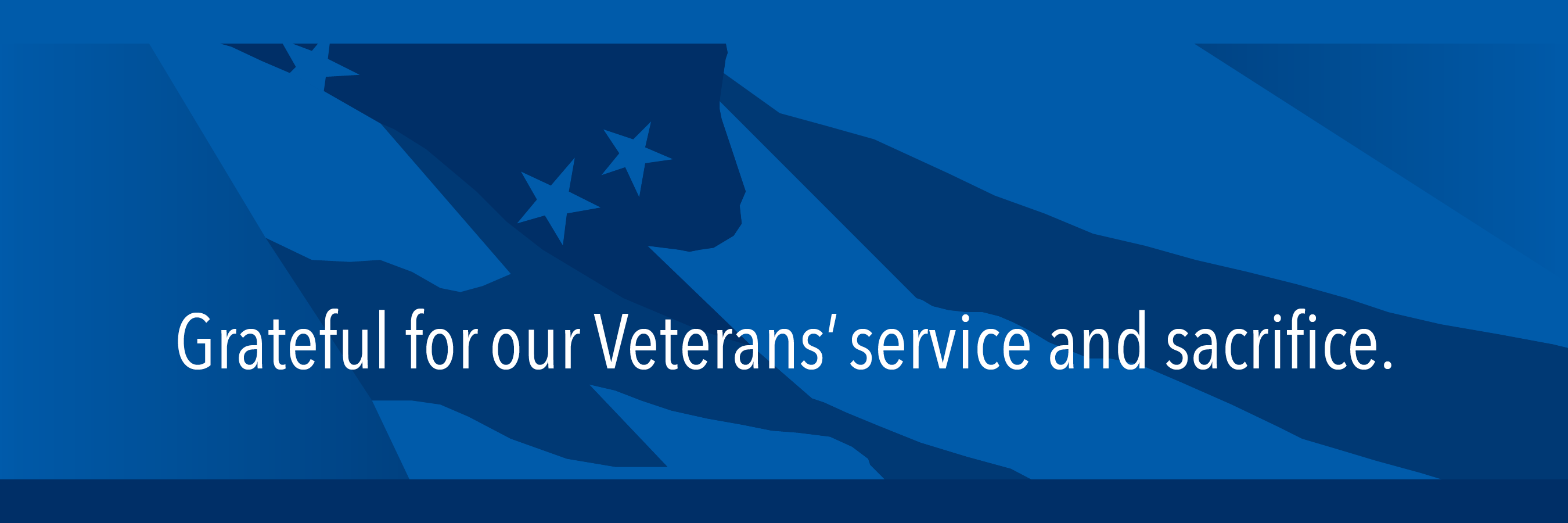 grateful for our veterans' service and sacrifice