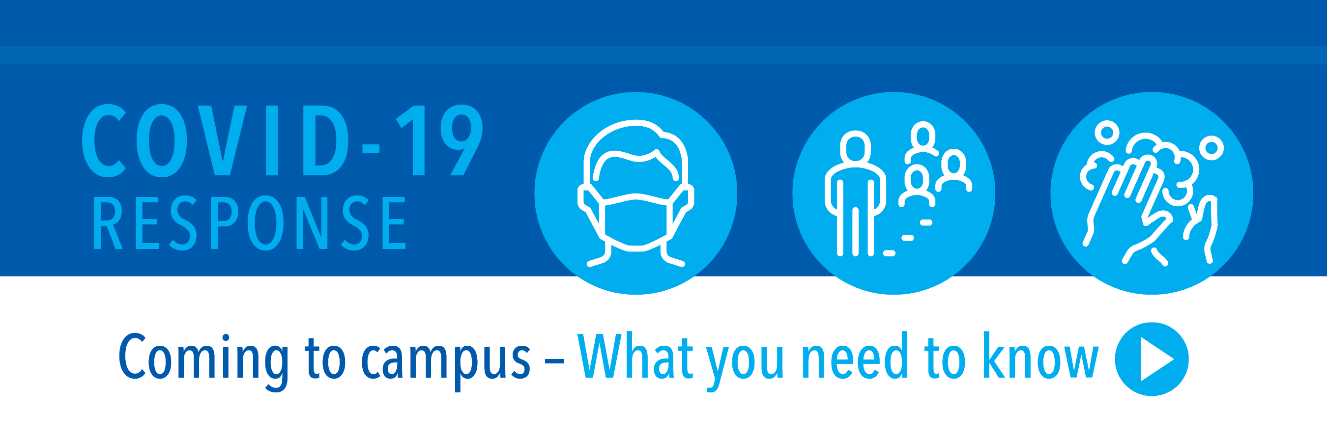 COVID-19 Response. Coming to campus - what you need to know.